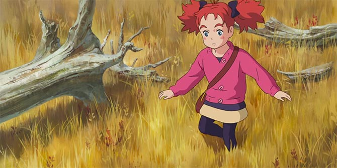 Mary and the Witch's Flower Review Mary Walking