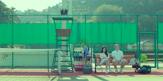 Persona Review IU Sitting on Bench