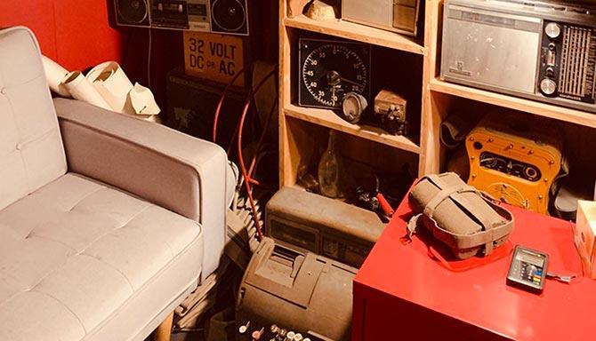 Escape Room Melbourne Mine Escape Sitting on Couch