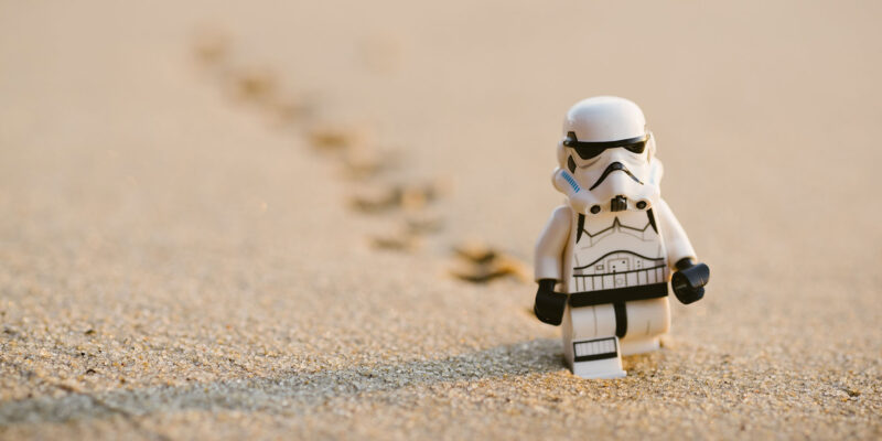 No Longer Love Star Wars Stormtrooper Walking Away