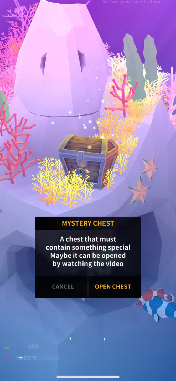 Tap Tap Fish Review Treasure Chest Ads