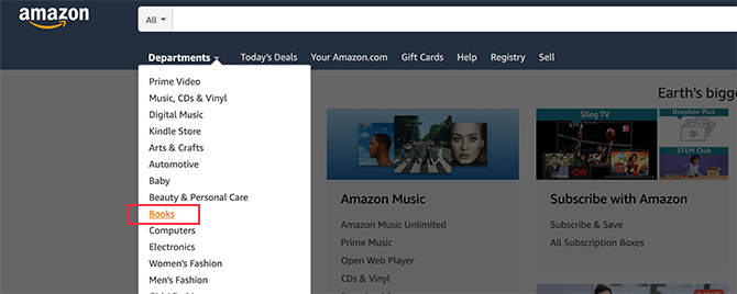 How to Search Amazon for Books on the Web
