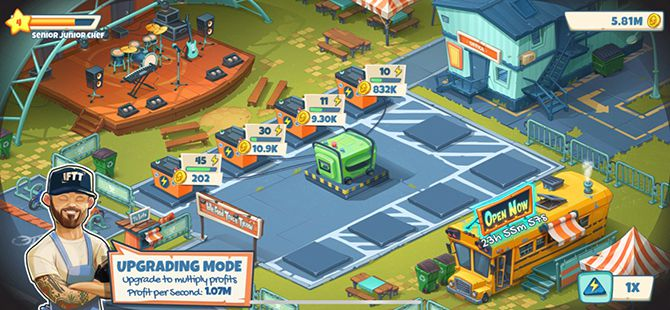 Idle Food Truck Tycoon Review Mobile Game Upgrade System